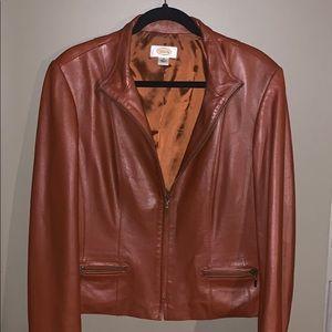 Talbots leather jacket